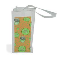 kiwi fruit Shopper bag per bottiglie