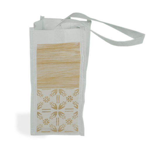 Bamboo and Japan Shopper bag per bottiglie