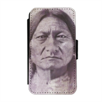 Sitting Bull warrior Flip cover laterale iphone 4-4s