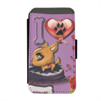 Collana I Love My Dog Flip cover laterale iphone 4-4s