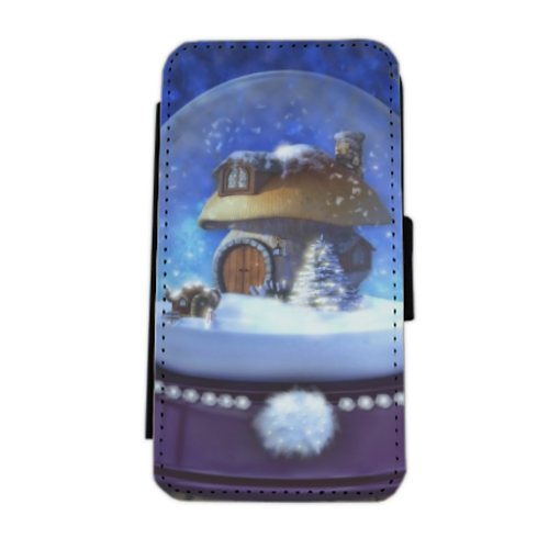 Globo di Neve Fantasy Flip cover laterale iphone 5
