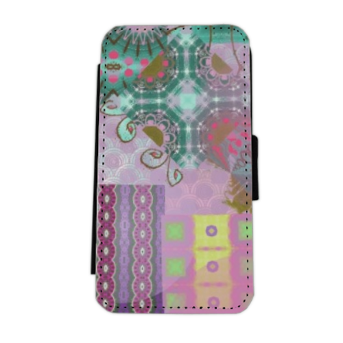 Astratto colorato Flip cover laterale iphone 5