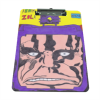 ARNIM ZOLA Portablocco grande in masonite