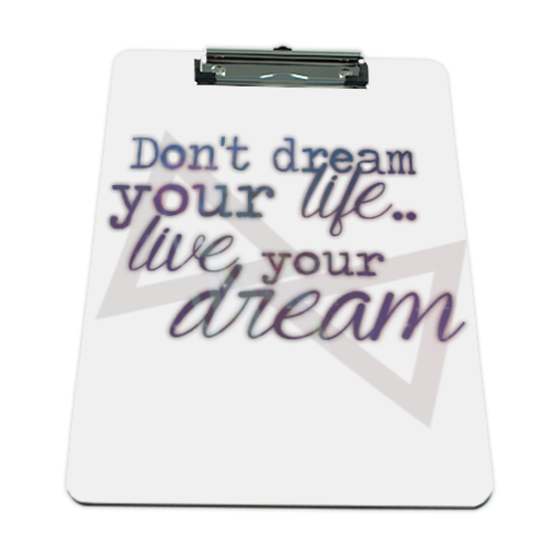 live your dream Portablocco grande in masonite