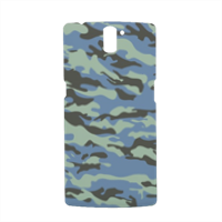 Blue camouflage  Cover Oneplus One 3D