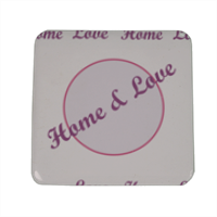 Home and Love Magnete da frigo quadrato