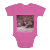 Cute kitten Body neonato in cotone