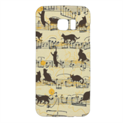 gattini e note musicali Cover Samsung Galaxy S7 Edge 3D