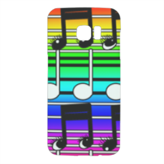 note musicali Cover Samsung Galaxy S7 Edge 3D