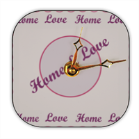 Home and Love Foto su Orologio Retro