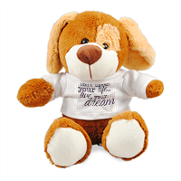 live your dream Peluche cagnolino personalizzato