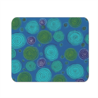 cerchi blu Mousepad in masonite