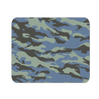Blue camouflage  Mousepad in masonite