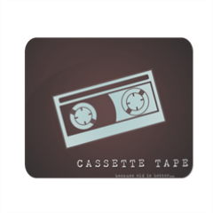 Cassette Tape Mousepad in masonite