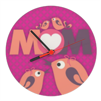 Mamma I Love You - Orologio tondo in masonite