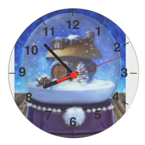 Globo di Neve Fantasy Orologio tondo in masonite