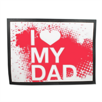 I Love My Dad - Tappeto in gomma 80x60