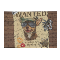 Wanted Rambo Dog Puzzle in Legno Small