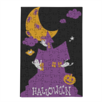 Happy halloween Puzzle in Legno Small