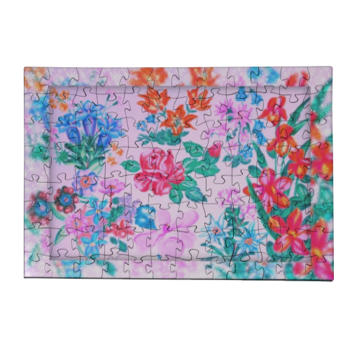 Flowers Puzzle in Legno Small
