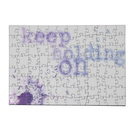 keep holding on Puzzle in Legno Small