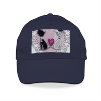 Sweet Love with Dog Cappelli colorati con visiera