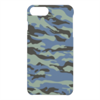 Blue camouflage  Cover iPhone 7 Plus 3D