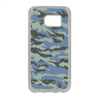 Blue camouflage  Cover in silicone Samsung S7
