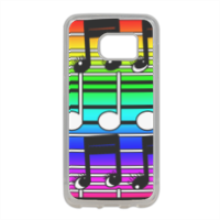note musicali Cover in silicone Samsung S7