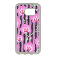 orchidee Cover in silicone Samsung S7 Edge