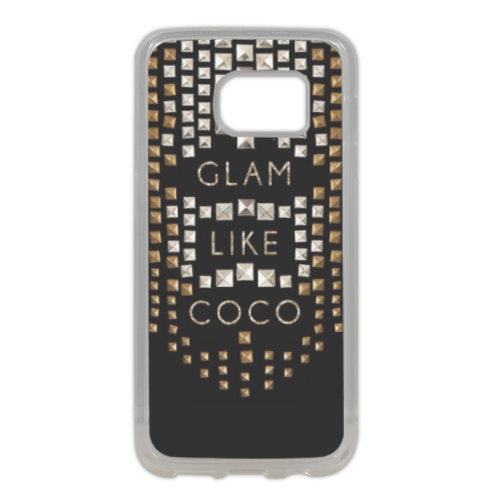Glam Like Coco Cover in silicone Samsung S7 Edge