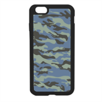 Blue camouflage  Cover in silicone iPhone 6