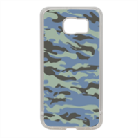 Blue camouflage  Cover in silicone Samsung S6