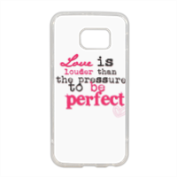 love is louder Cover in silicone Samsung S6 edge
