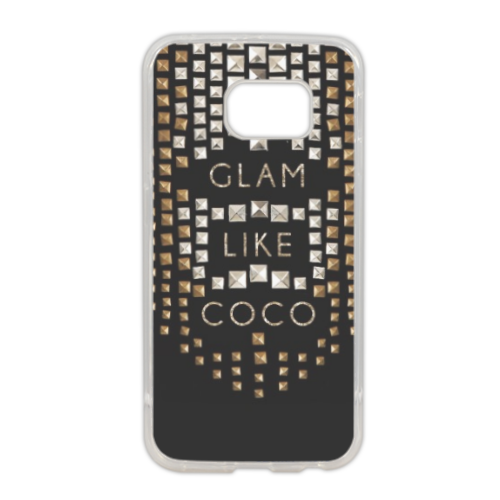 Glam Like Coco Cover in silicone Samsung S6 edge