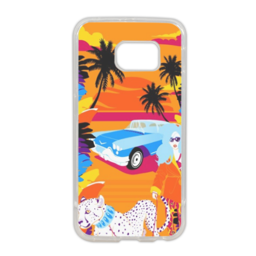 Rich Summer  Cover in silicone Samsung S6 edge