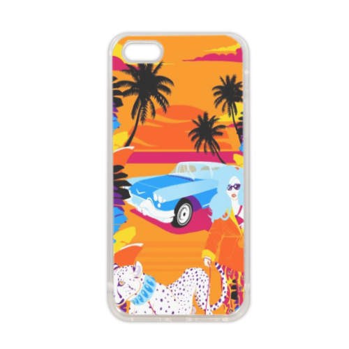 Rich Summer  Cover in silicone iPhone 5-5S