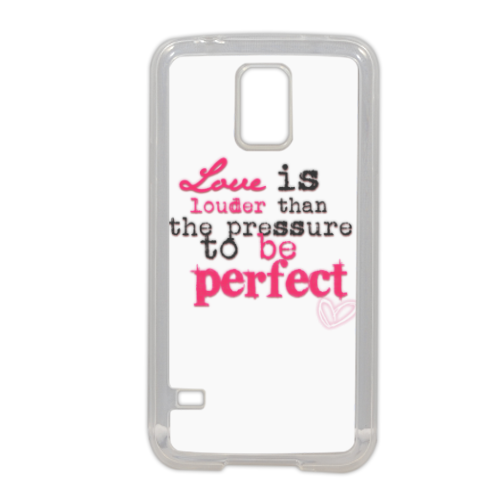 love is louder Cover in silicone Samsung S5