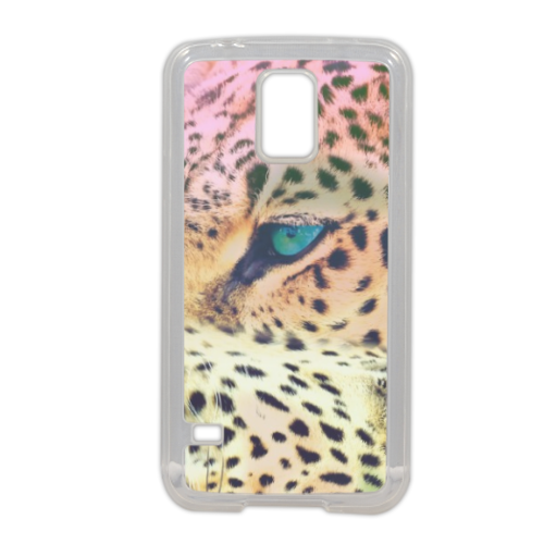Leopard Cover in silicone Samsung S5