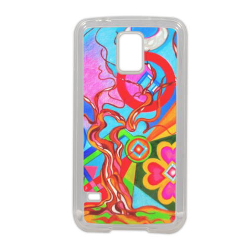 Tree of Life Cover in silicone Samsung S5