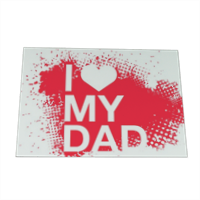 I Love My Dad - Cartolina magnetica