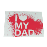 I Love My Dad - Calamita flessibile 15x11 cm