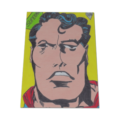 SUPERMAN 2014 Calamita flessibile 15x11 cm