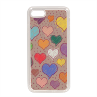 cuoricini Cover in silicone iPhone 7