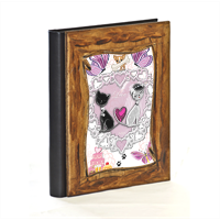 Sweet Love with Dog Album Fotografico Legno Gold