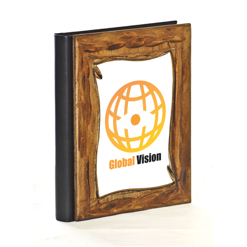 Global vision Album Fotografico Legno Gold