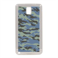 Blue camouflage  Cover in silicone Samsung Note 3