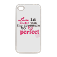 love is louder Cover in silicone iPhone 4-4s