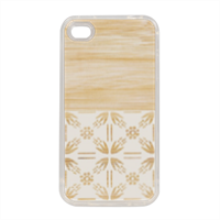 Bamboo and Japan Cover in silicone iPhone 4-4s