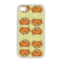 granchi a pois Cover in silicone iPhone 4-4s